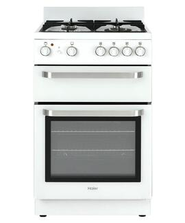 HAIER HOR54B5MGW1 60L Elec Grill Gas Oven/Cooktop Freestanding Range 54cm