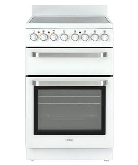 HAIER HOR54B7MSW1  Elec Oven 55L 7 Function Grill Ceramic Cooktop Freestanding Range 54cm